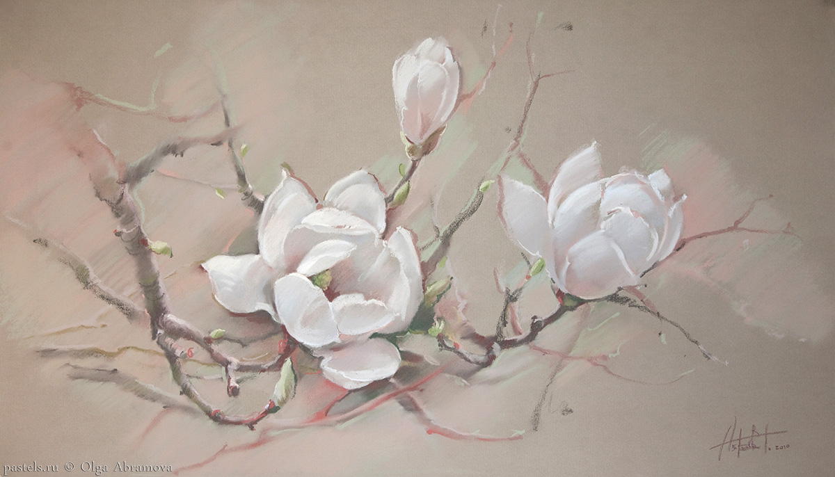 White magnolia 65×100. 2010