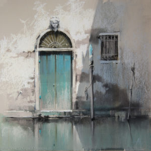 Venice 1. Turquoise 41×41. 2015
