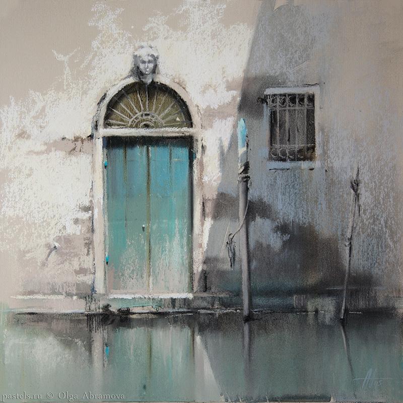 Venice 1. Turquoise 41x41. 2015