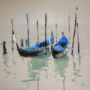 Venice 2. Cobalt 41×41. 2015