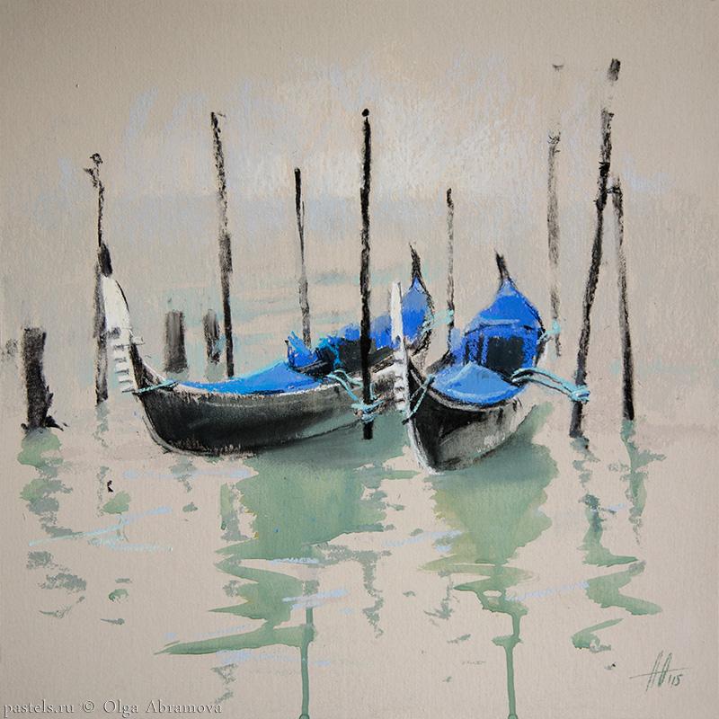 Venice 2. Cobalt 41x41. 2015