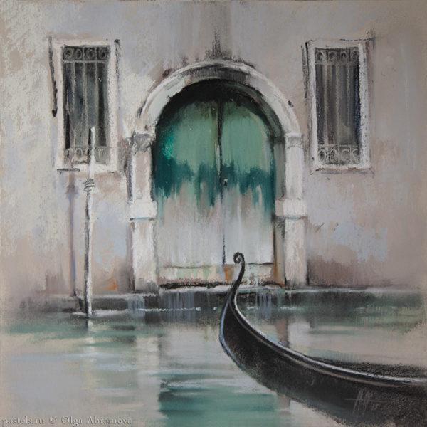 Venice 4. Venetian green 41×41. 2015