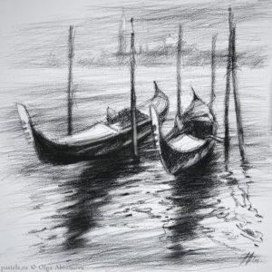 Venice. Marina 40×40. 2015