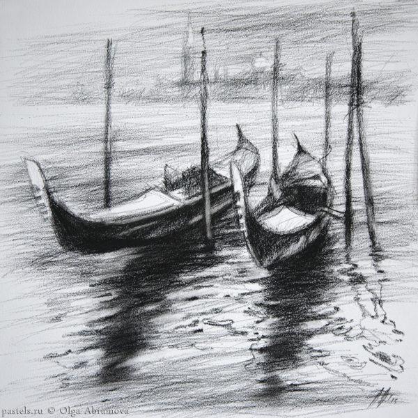 Венеция. Пристань Venice. Marina 40×40. 2015