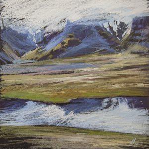 Iceland. Cobalt 32×31. 2014