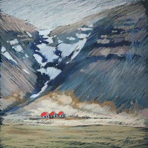 Исландия. Красный Iceland. Red 32×31. 2014