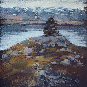 Iceland. Ochre 32×31. 2014