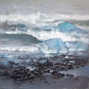 Ice floes and The Ocean 50×50. 2014
