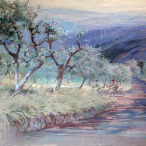 Оливковые рощи Olive groves 100×144. 2014
