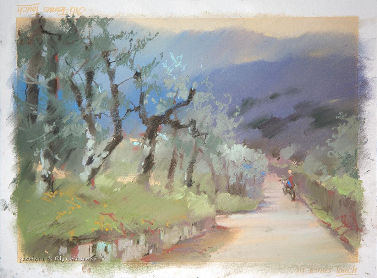 Оливковые сады 3 Olive gardens 3 21×29. 2013