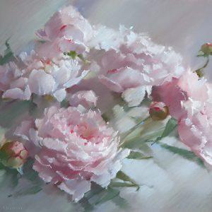 Peonies Margie 48×65. 2013