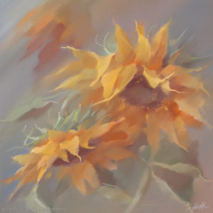 Sunflowers 40×40. 2003