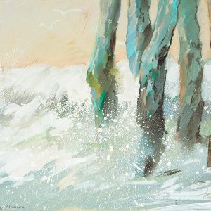 Прибой в Сан Мало Surf in Saint Malo 50×60. 2010