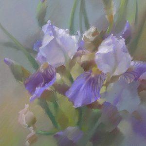 Сиреневые ирисы Lilac irises 40×50. 2005