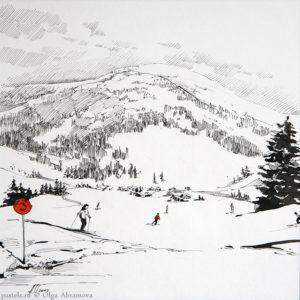 Snow story 2 27×27. 2012