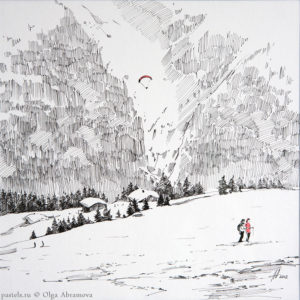 Snow story 3 27×27. 2012