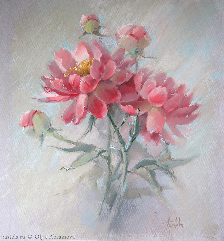 Coral peony, 65x60, 2016
