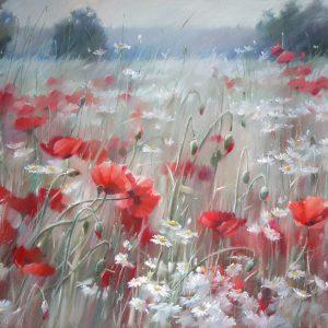 Поляны. Красный Glade. Red 65×104. 2016