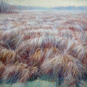 Терракотовое поле 100×145. 2016