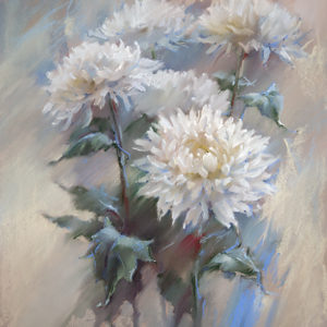Snowy chrysanthemum 81×65, 2016