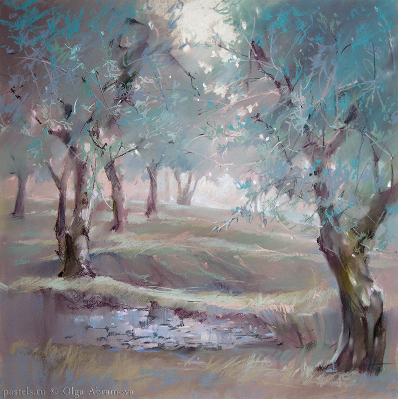 Olive trees of Verona 48x48. 2017