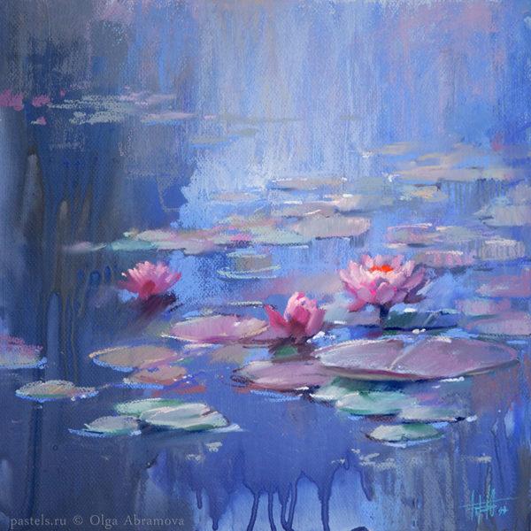Водяные лилии 01. 40×40. 2017