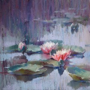 Водяные лилии 02. 40×40. 2017