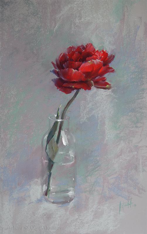 Огненный цветок 72×51,5. 2017