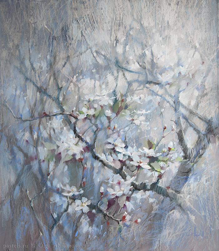 Spring. Blue 80×70. 2018